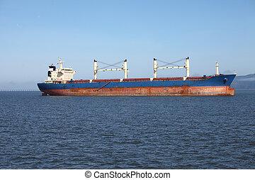 ancré, cargaison, or., bateau, astoria
