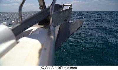 ancre, nez, yacht