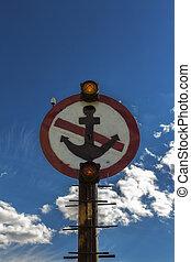 ancre, non, signe