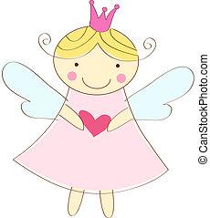 anděl, maličký, pohled