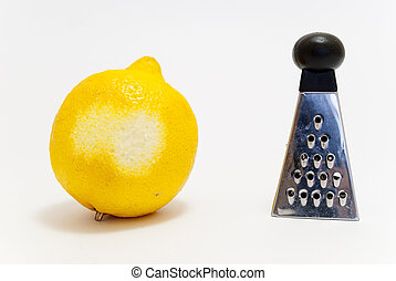 and lemon grater