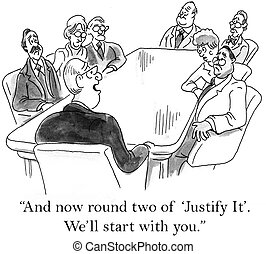 "And now round two of justify it - ""And now round two of..."