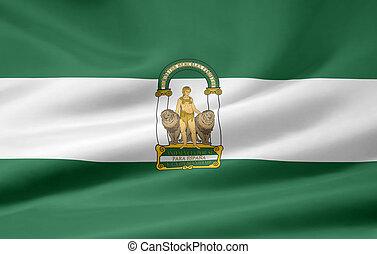 andalousie, espagne, -, drapeau