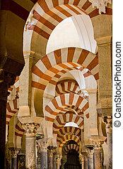 andalousie, intérieur, cordoue, espagne, mosque-cathedral