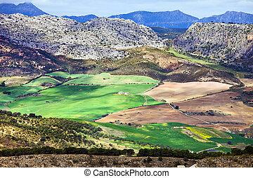 andalucia, landscape, spanje