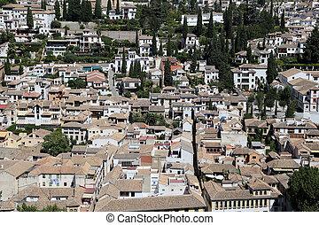 andalucia, miasto, granada, granada, pałac, alhambra,...
