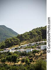andalucia, tipico, meridionale, spagna, villaggio