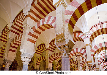 andalusia, interno, cordoba, spagna, mosque-cathedral