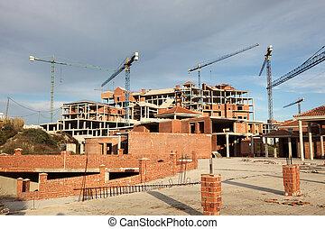 andalusia, zuidelijk, onafgewerkt, spanje, urbanisation