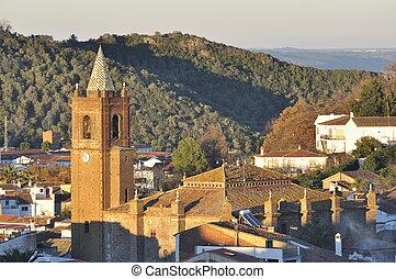Andalusian church village.