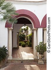Andalusian Patio in Roc de Sant Gaieta, Tarragona, Spain