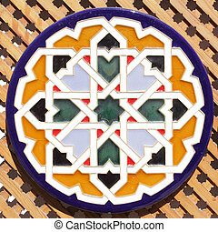 Andalusian plate - Typical ceramic andalusian plate with...