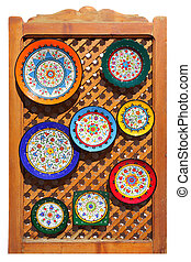 Andalusian plates - Typical colorful ceramic andalusian...