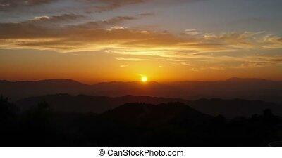Andalusien,  monte, Sonnenuntergang,  Malaga, Spanien