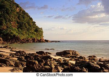 Andaman beach while late noon