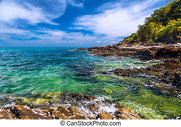 Andaman Sea and the coast of Koh Samet in Thailand