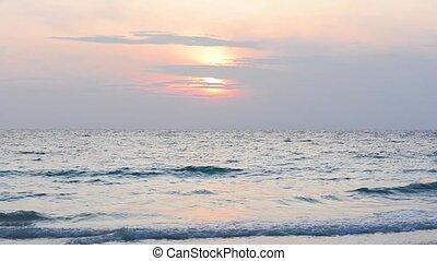 Andaman sea sunrise - Sun is rising over Andaman sea,...