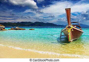 andaman, tropicale, mare, spiaggia, tailandia