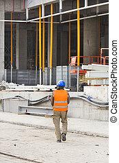 andar, local construção, engenheiro