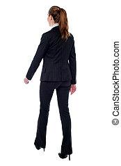 andar, mulher, postura