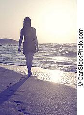 andar, praia