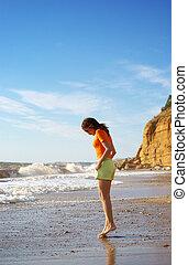 andar praia