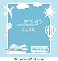 andare, lets, viaggiare