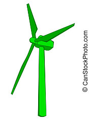 andare, mulino vento, verde
