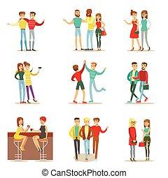 andare, set, themed, amici, tempo, parlare, buono, insieme, ...