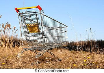 andare, shoping, carrello