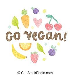andare, vegan, art.