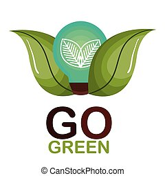 andare, verde, ecologia, manifesto