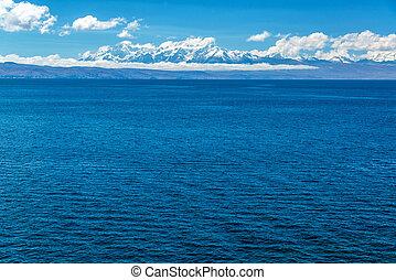 ande, e, lago titicaca