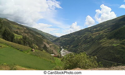 Andean Sacred Valley And Farmland, Andes, Peru - Wide still...