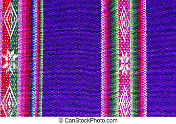 Andean textile in alpaca and sheet wool