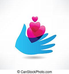 anderen, liefde, pictogram