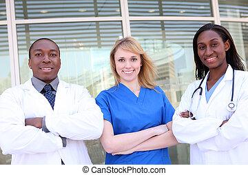 anders, aantrekkelijk, medisch team