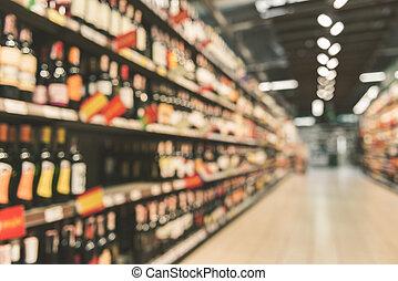 anders, alcohol, flessen, in, supermarkt
