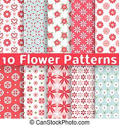 anders, bloem, seamless, motieven, vector, (tiling).