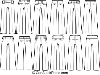 anders, broek, dame, stijl, formeel