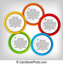 anders, concept, kleurrijke, zakelijk, pijl, illustratie, vector, banieren, circulaire, design.