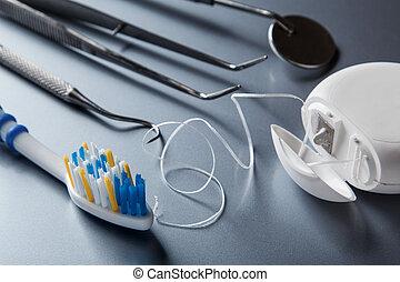 anders, gereedschap, voor, dentale zorg