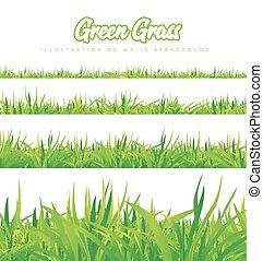 anders, gras, groene, hoogten