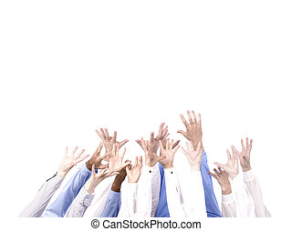 anders, groep, handen