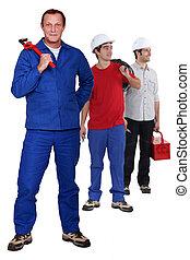 anders, handleiding, werkmannen