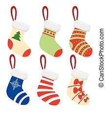 anders, moderne, kousjes, vector, illustratie, zalige kerst, design.