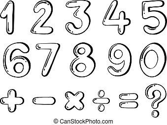 anders, numeriek, figuren