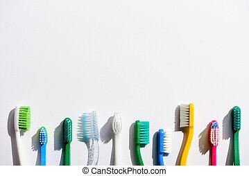 anders, ruimte, toothbrushes, witte , kopie, roeien