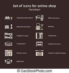 anders, set, afbeeldingen, online, gedeeltes, winkel, meubel