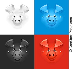 anders, set, kleur, pig., achtergrond, pictogram